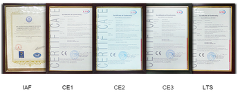 CE, ISO certifications