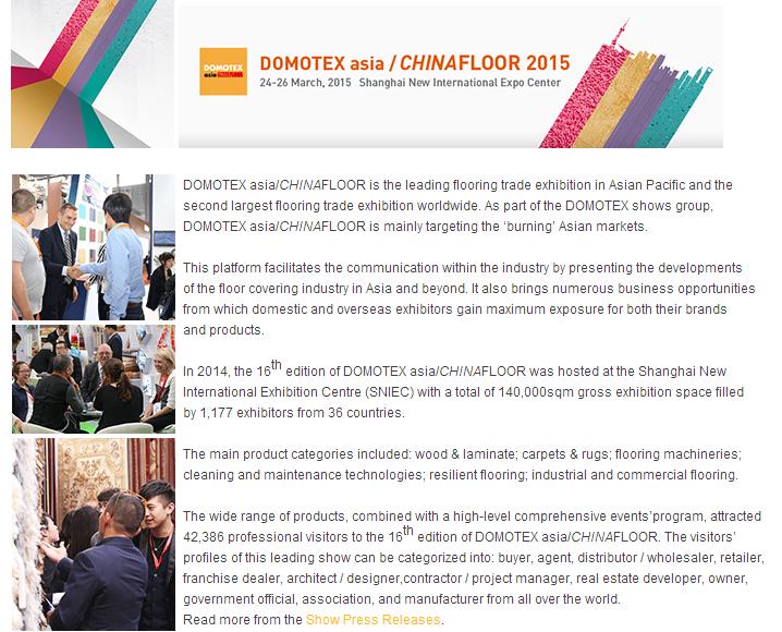 Shanghai Domotex Asia/Chinafloor Fair