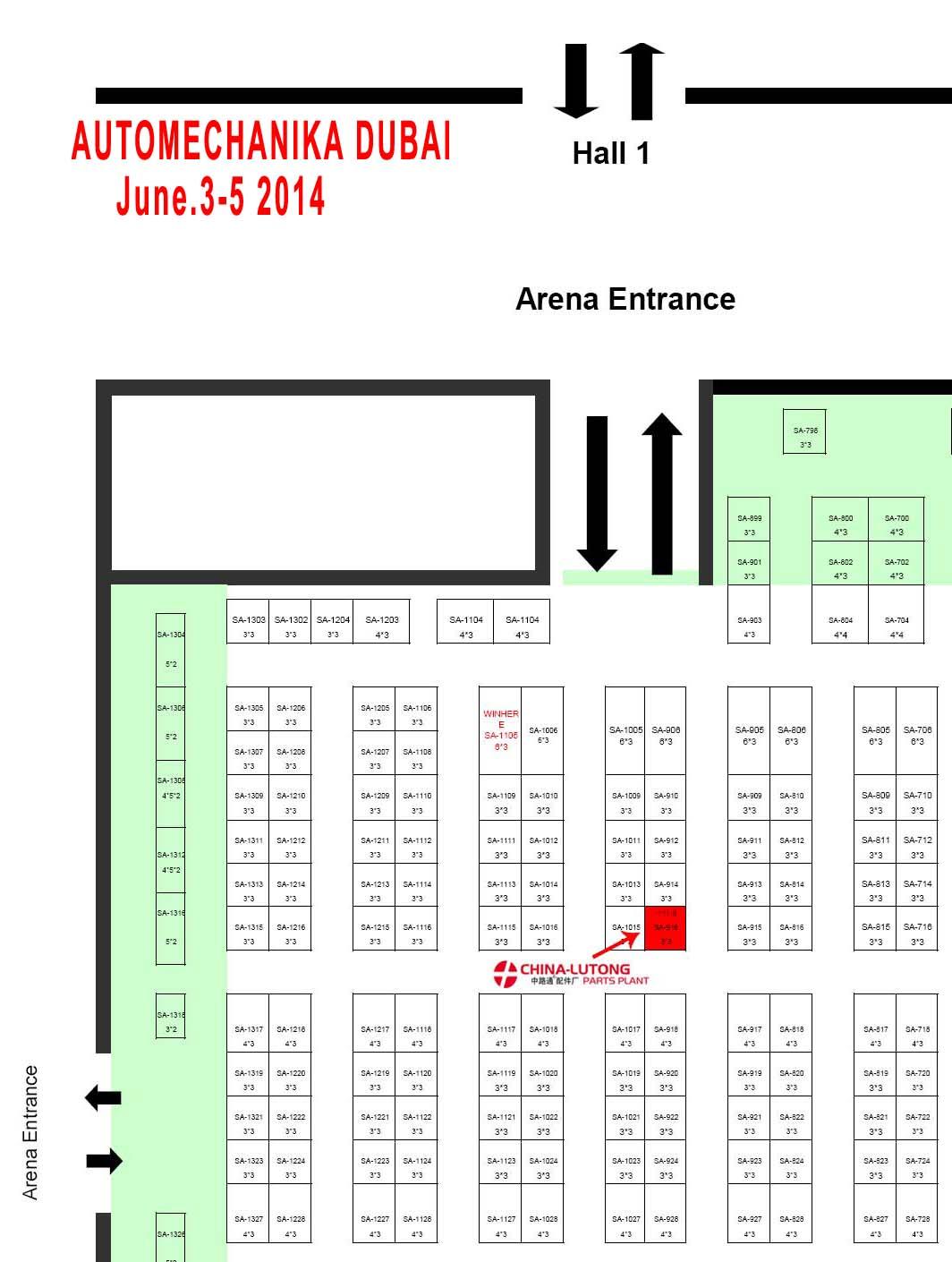 AUTOMECHANIKA DUBAI 2014(June.3-5),Arena Hall,booth no:SA-916