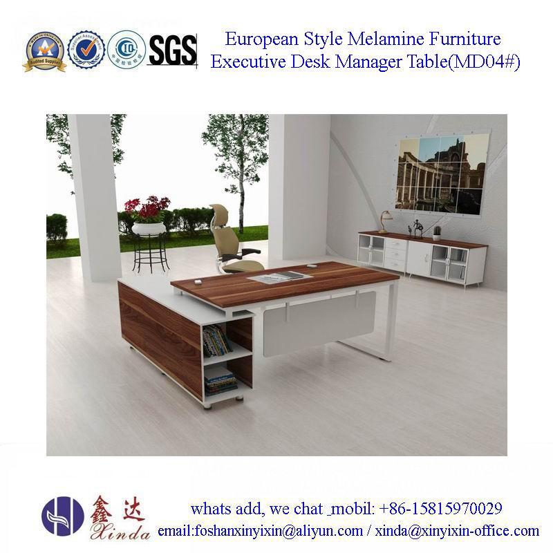 European Style Melamine Furniture Executive Desk Manager Table
