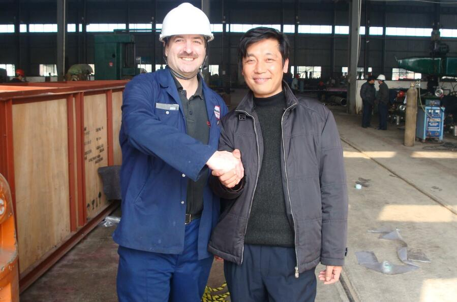 the uk customer came to inspect spun cast rolls for annealing furnace