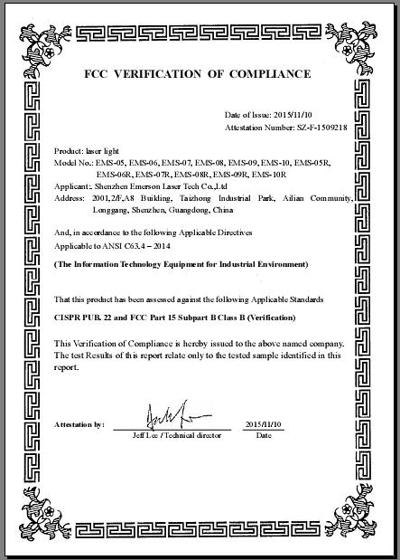 FCC for laser light