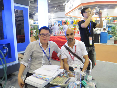 In Chinaplas 2013, we - ZQ Machinery, showed the best of our machines. - With customer discussion