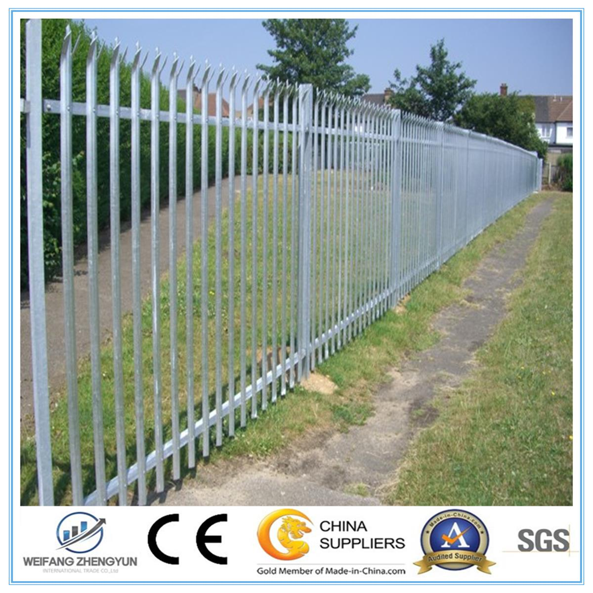 Palisade Fencing/Metal Fence Used Security Fence