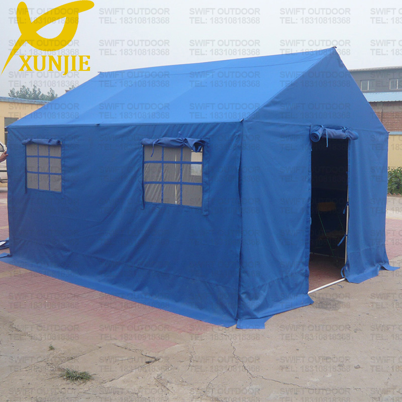 High Quality 600D Oxford Blue Steel Structure Relief Tent