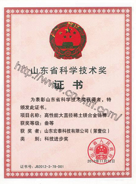 Honor of science and technology in Shandong