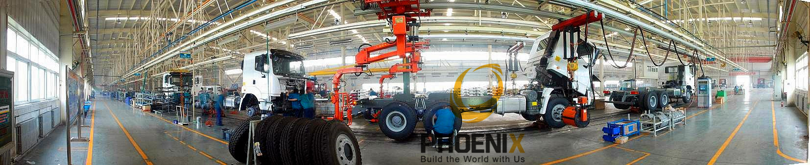 Our HOWO Heavy Duty Truck Manufacturer Robot Automatic Production Line