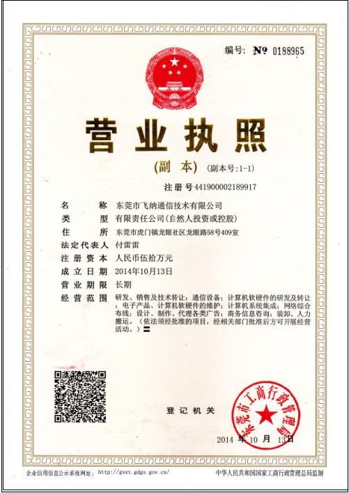 Company registration information