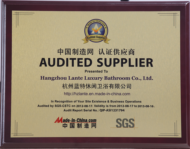Audited Supplier By SGS and Made-In-China