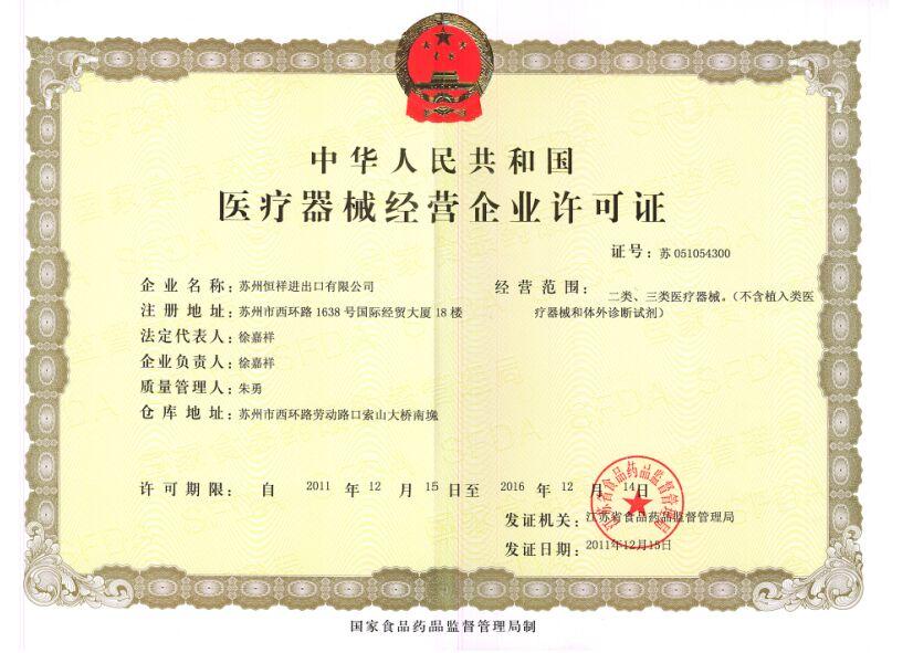 CFDA LICENSE-SU 051054300