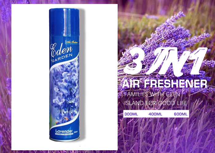 Lavender scent the air freshener new packaging design