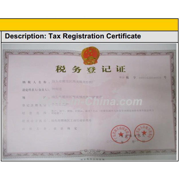 Tax Registration