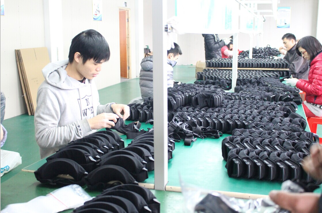 Military goggles mass production line