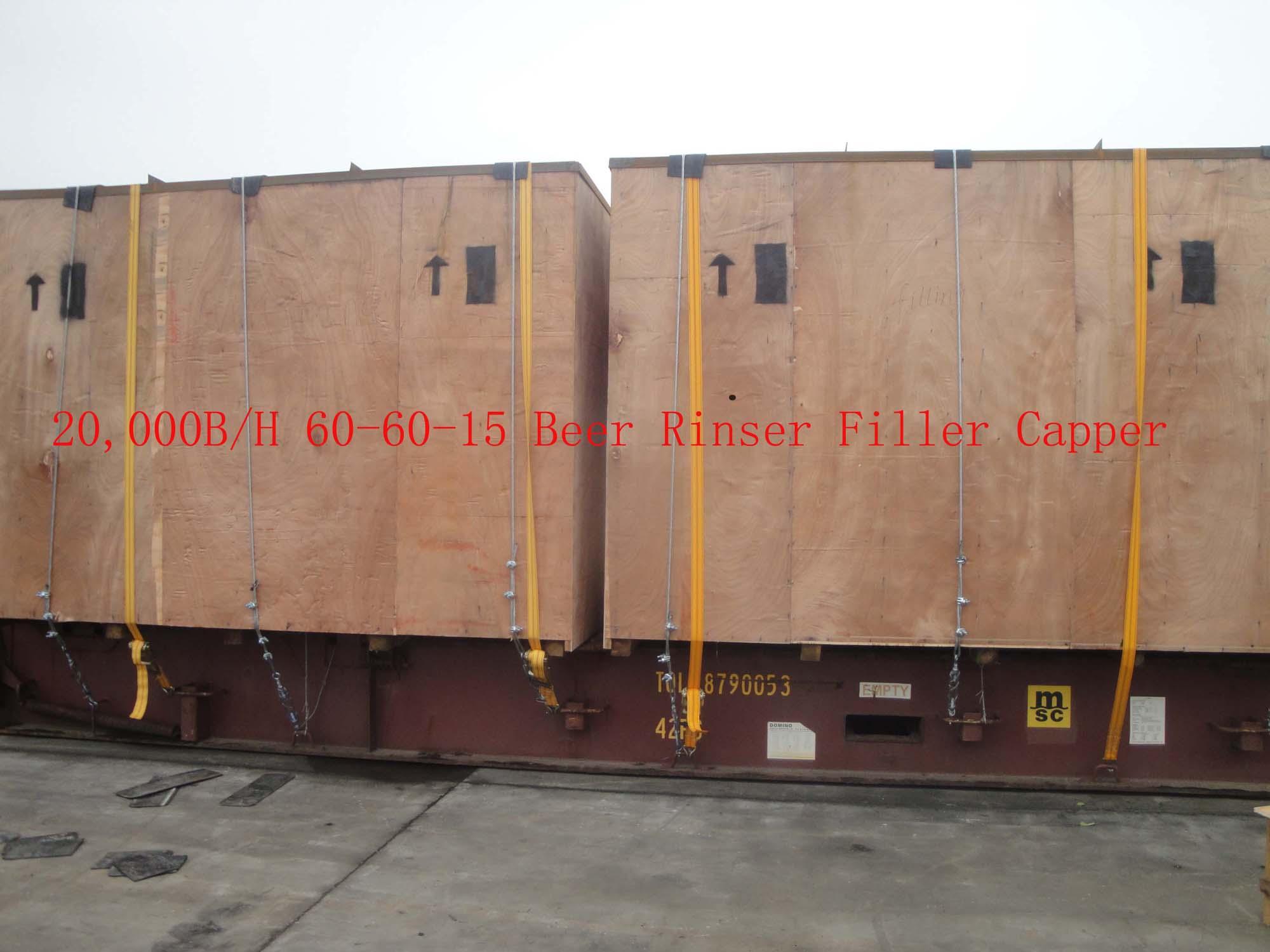 60-60-15 Beer Rinser Filler Capper Loading Container