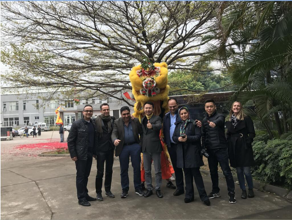 Lion Dancing with Iran client