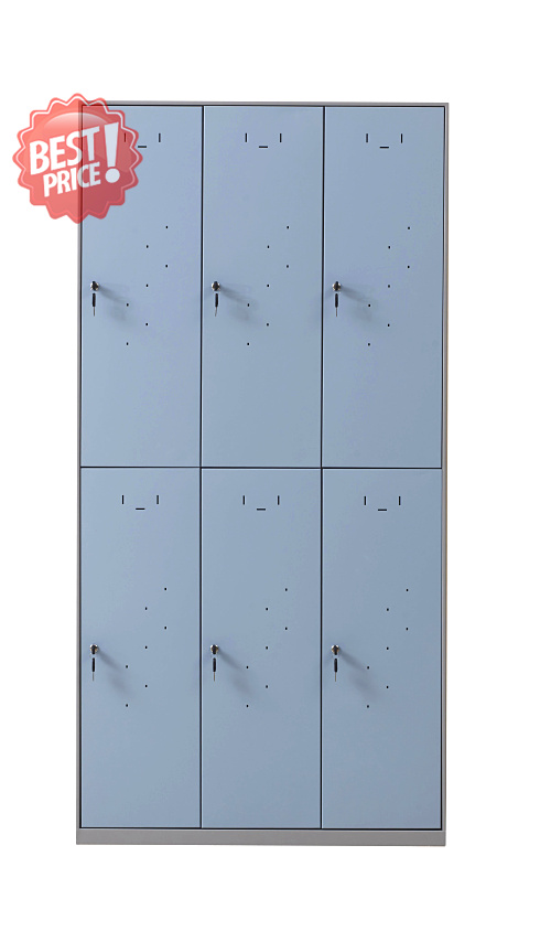 Steel storage office furniture with 6 doors locker