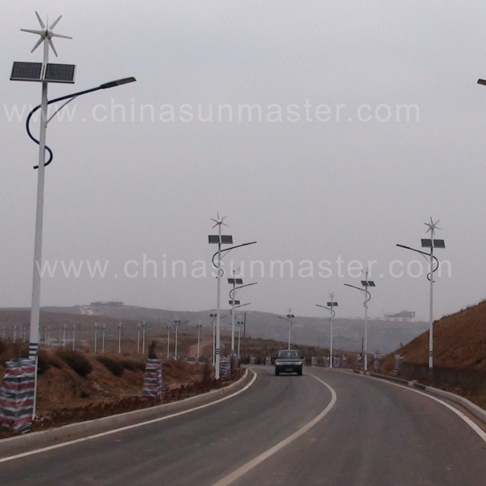 Wind and solar lights in Inner Mongolia China