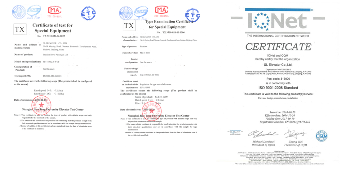 CNAS & ISO certificate