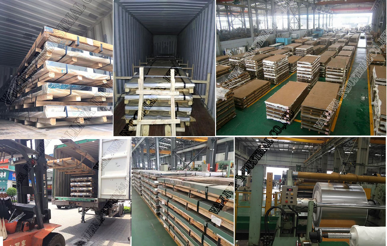 Container loading for stainless steel plate