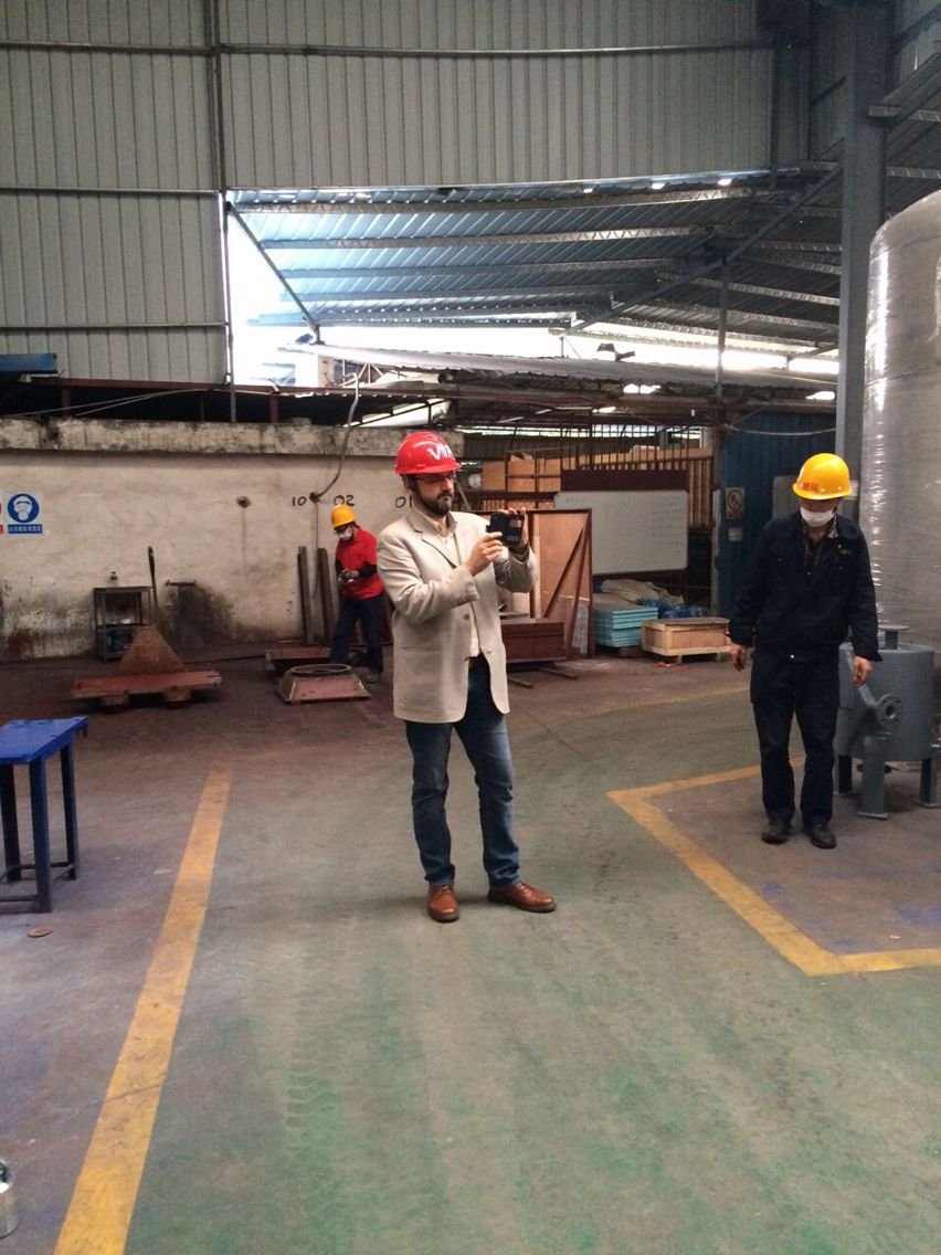 Spanish customer Visiting for Pressure Vessel