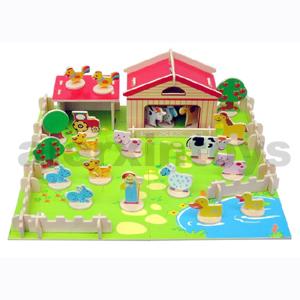 Wooden Toy - Wooden Puzzle - 3D Wooden Farm Puzzle (81024)