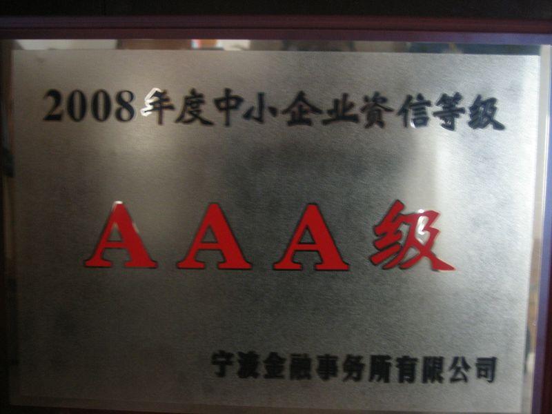 AAA Credit Medium Premise in 2008