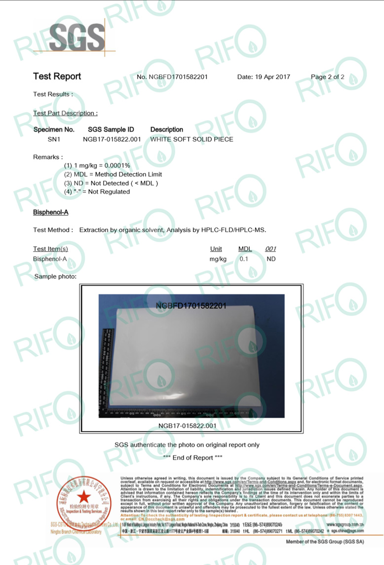 RTM 75 thermal transfer synthetic paper BPA free authentification