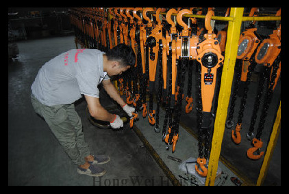 Chain electric hoist workshop
