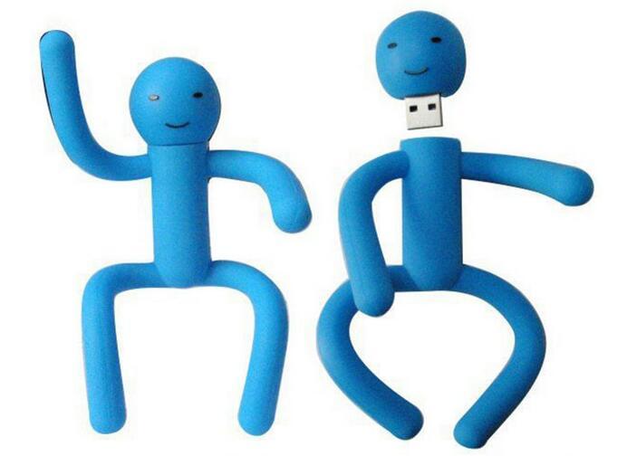 Customed PVC Man Shape USB Fladh Drive Cartoon USB Stick