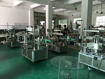 Automatic labeling machine production line