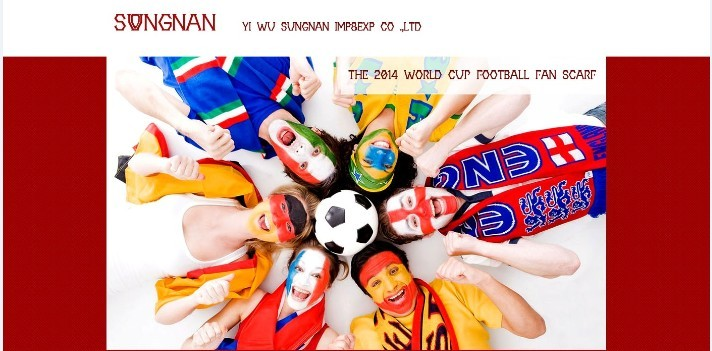 2014 world cup promotion football scarf