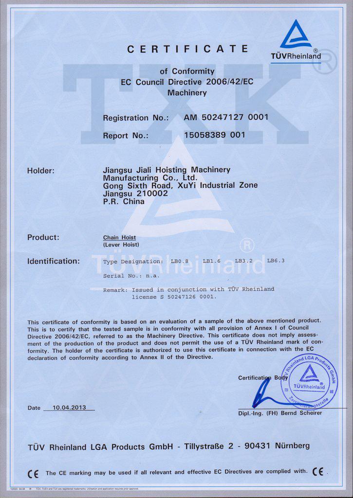 CE certified Lever Block