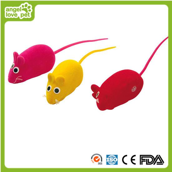 Lovely Vinyl Flocking Mouse Cat Toys
