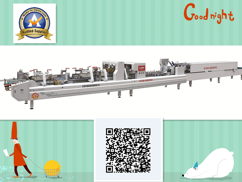 XCS-650PC multifunctional automatic folder gluer machine