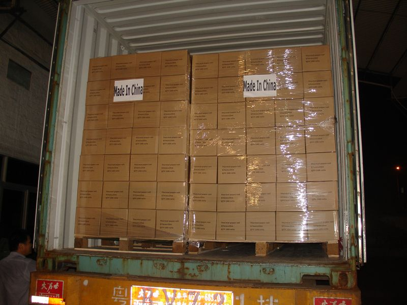 Boxes Palletized in Container