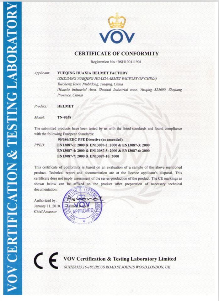 CE certificate of 8658
