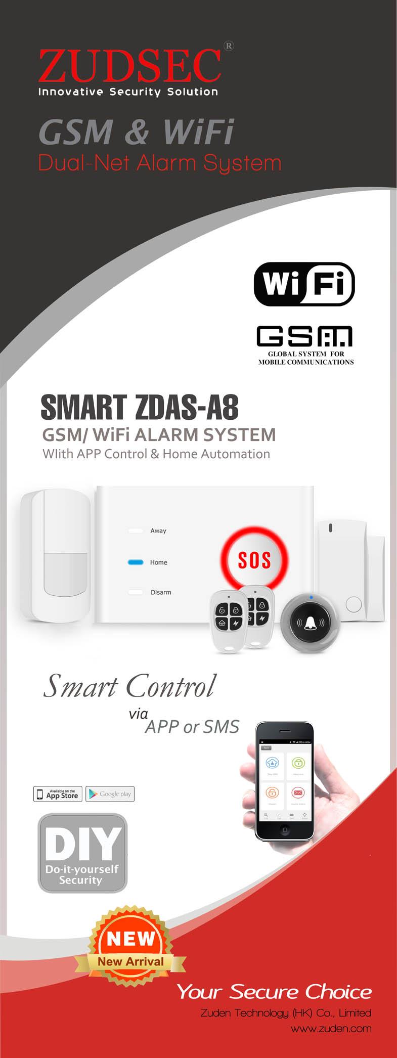 O-HOME WiFi/GSM Smart Alarm System -APP control