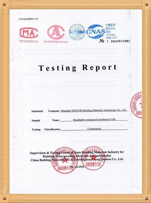 TESTING REPORT F-160