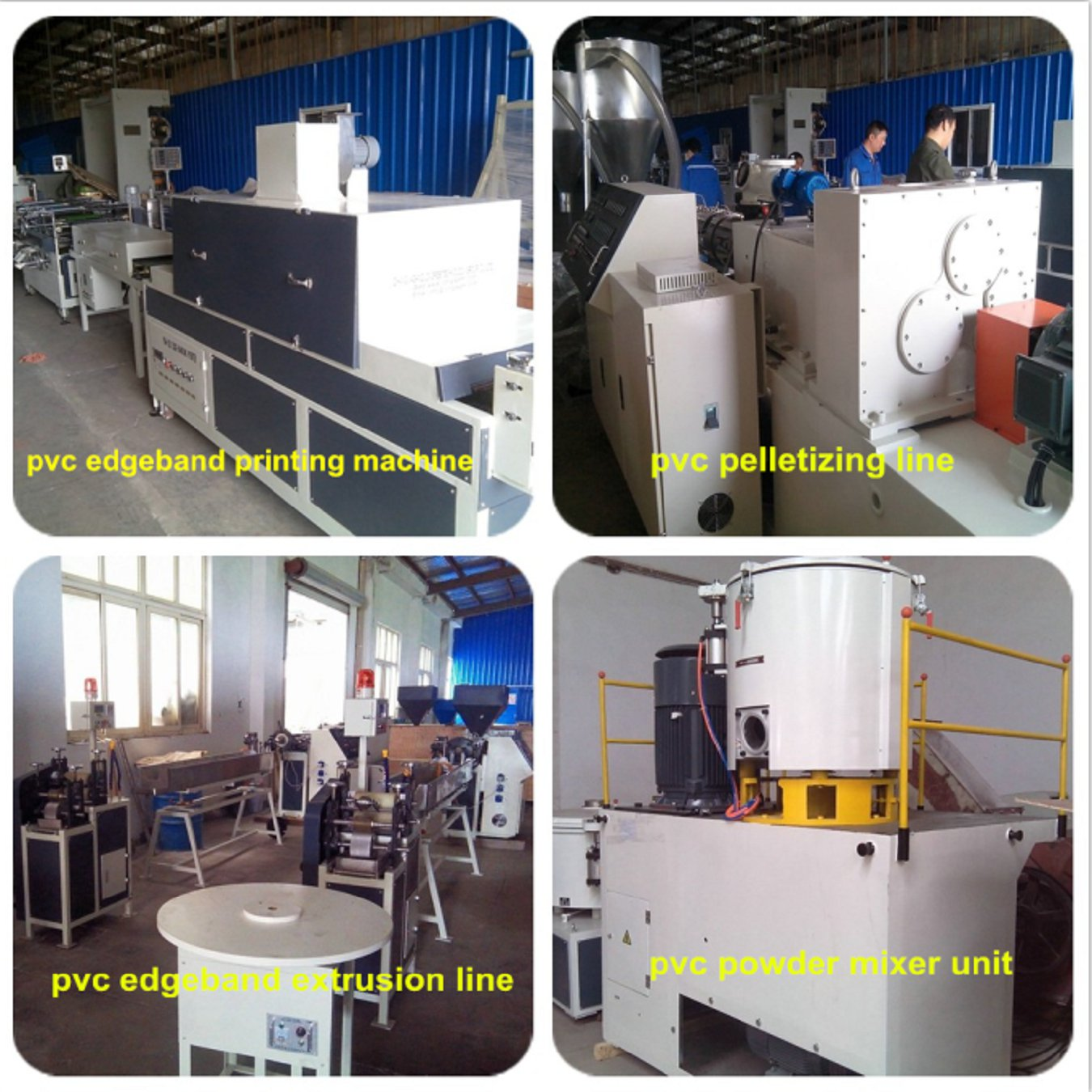 PVC Edge Banding Extruder Production Line for India Customer