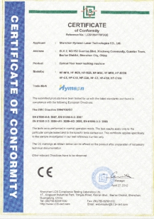 CE CERT. of Hymson