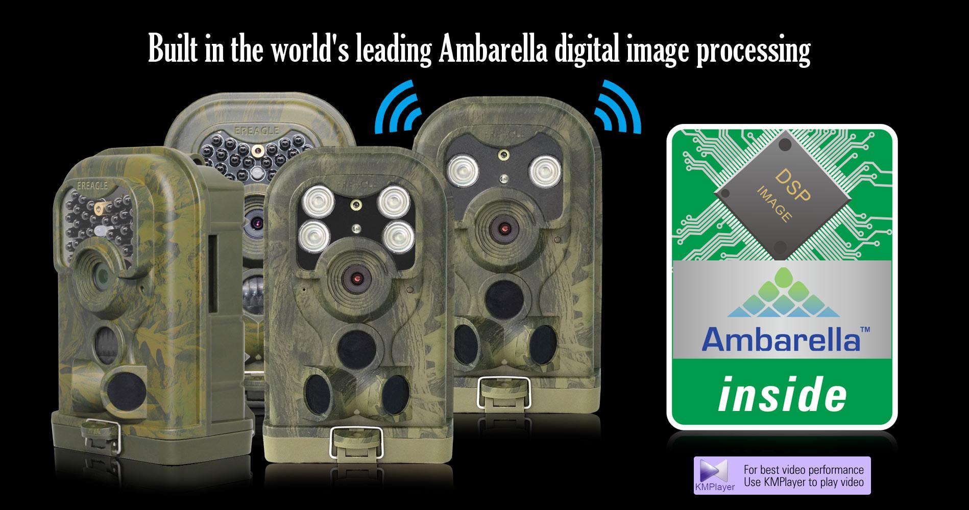 World best trail camera hunting game camera image process solution Ambarella chipset
