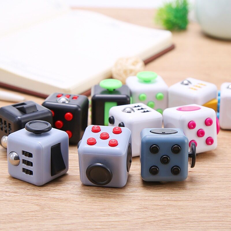 ABS Hand Fidget Toys Rubber relax cube spinner