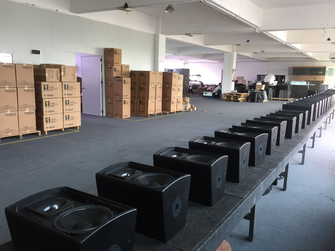 line array speaker factory 4