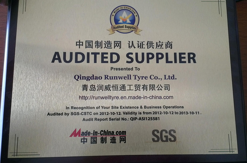 Audited supplier 2012 by SGS