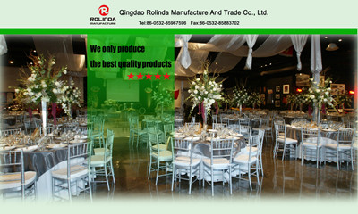 Rolinda Manufacture aim is supply high quality wood wedding chair table for all clients
