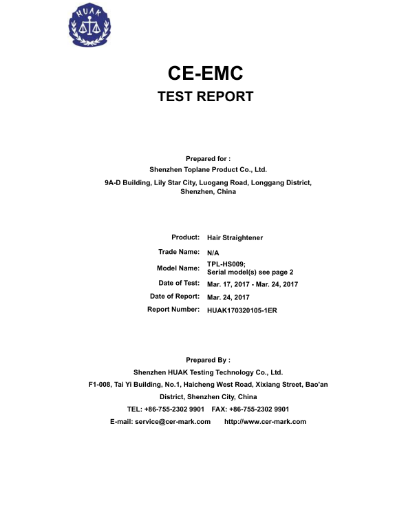 CE-EMC test report