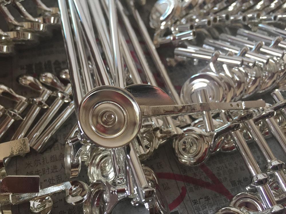 The finishing of polished flute key