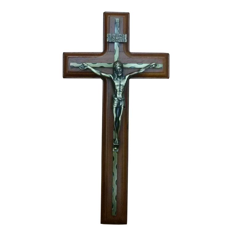 Wood Design Wall Hanging Crucifix (IO-ca008)