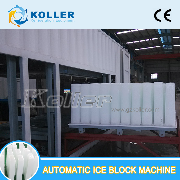 Koller Direct cooling 20 tons/day DK200 Block Ice Machine for Faster Edible Ice Block Production