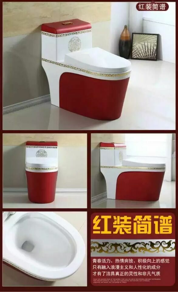 Colors Toilet with decal